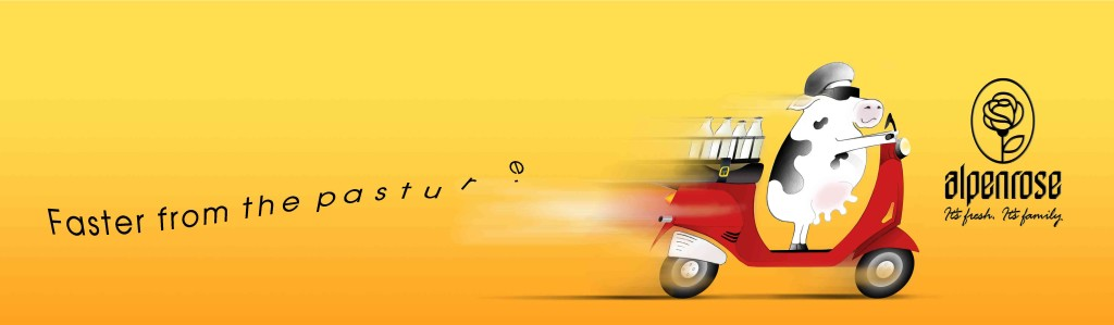 "Alpenrose Dairy ""Vespa"" ad by Daryle Rico Creative Services"