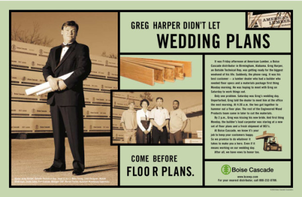 Boise Cascade Wedding Plans