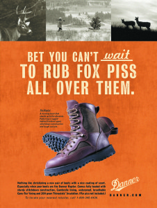 Danner Boot Company ad, from the creative portfolio of Daryle Rico Creative Services