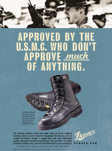 """Danner Boot Company """"USMC"""" ad by Daryle Rico Creative Services"""