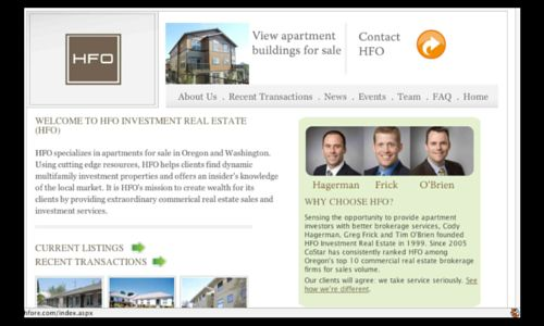 HFO Investment Real Estate